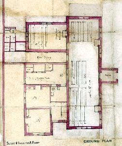 A plan of the school about 1860 [AD3865-13-2]